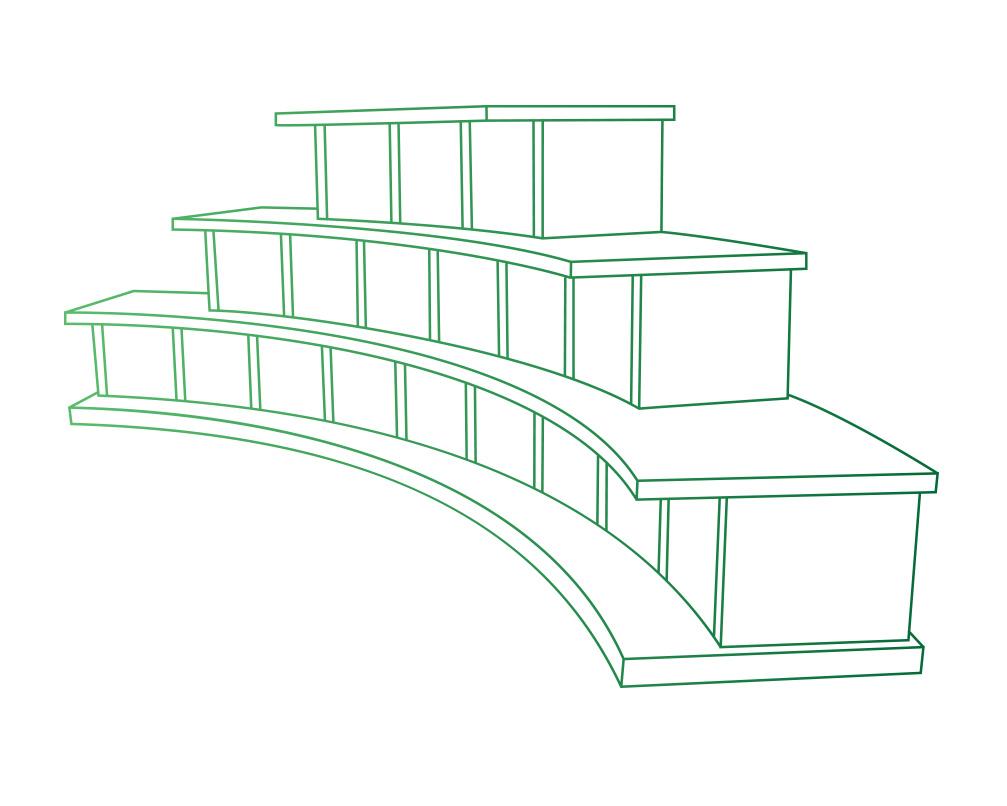 Columbarium en forme d'arc