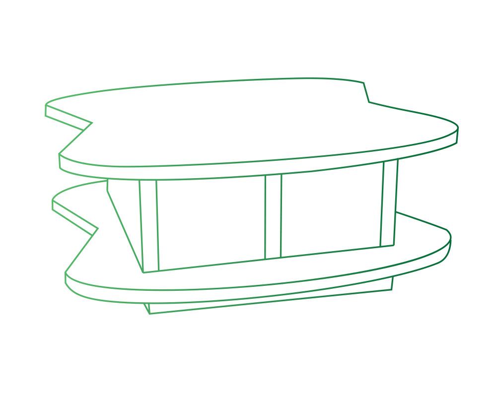 Columbarium en forme de corolles