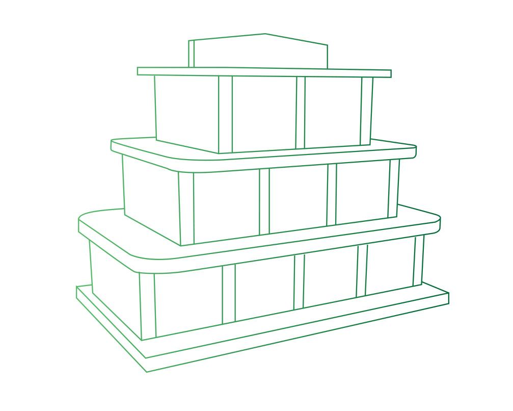 Columbarium en forme de pyramide